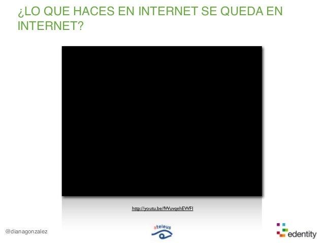 @dianagonzalez¿LO QUE HACES EN INTERNET SE QUEDA ENINTERNET?http://youtu.be/fWuvqehEWFI
