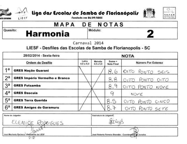 _,4 l ff  INTACATARINA  ~  li9a da1 E1cola1 de Samba de florianOpoli1  f  SLCRt.. r~HlA MUNICl!'Al fiE YUR3SMO zy ...... l...