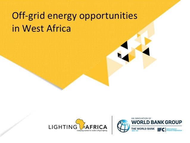 Off-grid energy opportunities in West Africa
