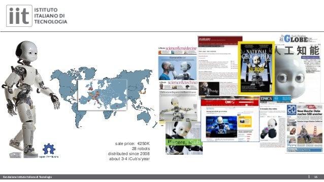 Fondazione Istituto Italiano di Tecnologia 15 sale price: €250K 28 robots distributed since 2008 about 3-4 iCub's/year