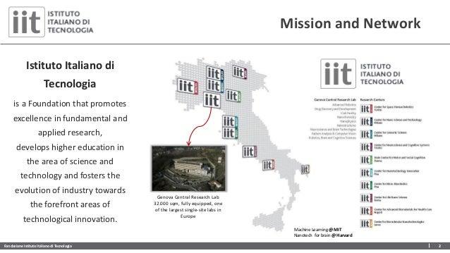 Fondazione Istituto Italiano di Tecnologia 2 Mission and Network Genova Central Research Lab 32.000 sqm, fully equipped, o...