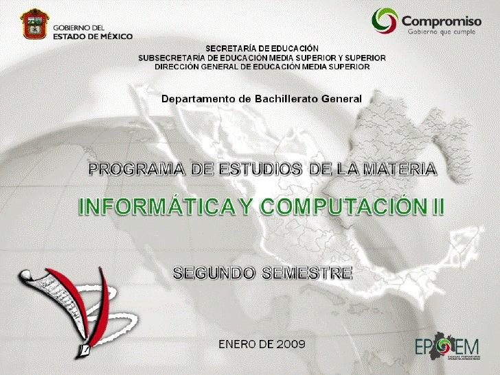 Informatica y Computacion II
