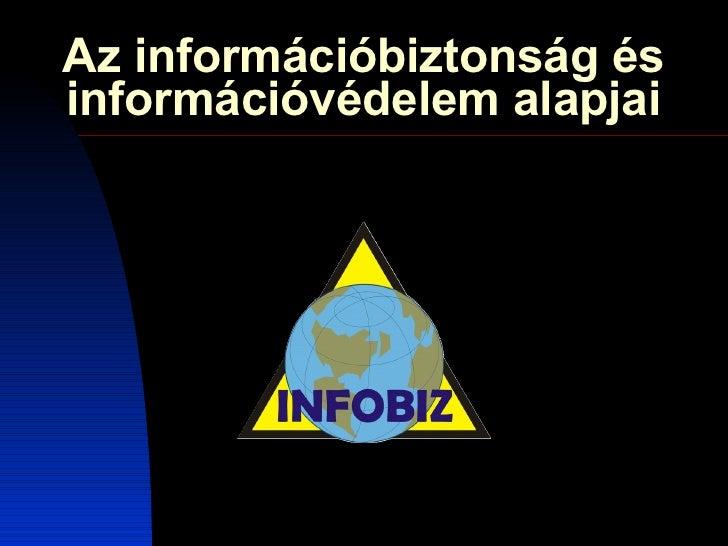 Az információbiztonság és információvédelem alapjai