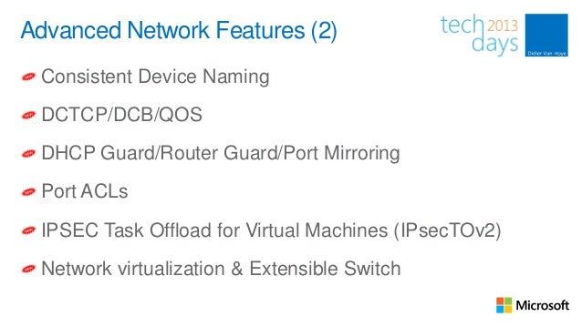 Windows Server 2012 Hyper-V Networking Evolved