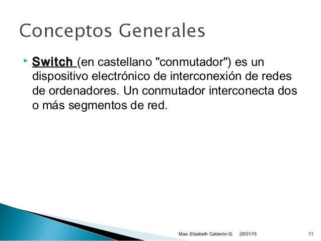 """ SwitchSwitch (en castellano """"conmutador"""") es un dispositivo electrónico de interconexión de redes de ordenadores. Un con..."""