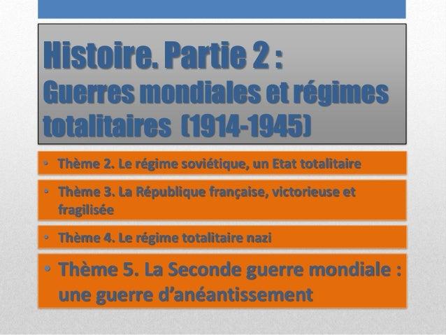 Histoire. Partie 2 : Guerres mondiales et régimes totalitaires (1914-1945) • Thème 2. Le régime soviétique, un Etat totali...