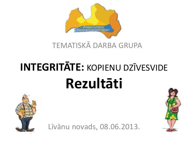 INTEGRITĀTE: KOPIENU DZĪVESVIDERezultātiLīvānu novads, 08.06.2013.TEMATISKĀ DARBA GRUPA