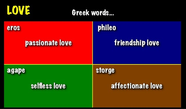 Love Greek Words Eros Phileo P Ionate Love Friendship