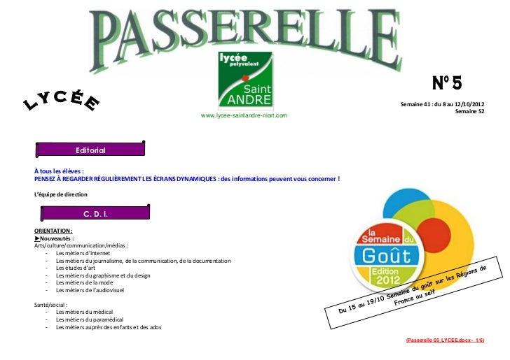 Semaine 41 : du 8 au 12/10/2012                                                                                           ...