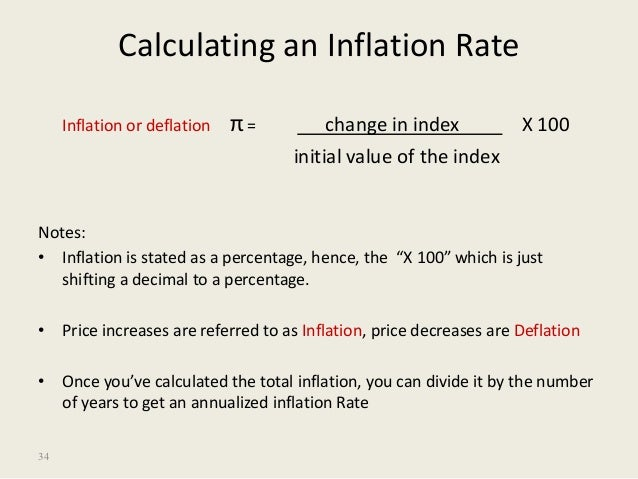 developing countries 34 34 calculating an inflation rate