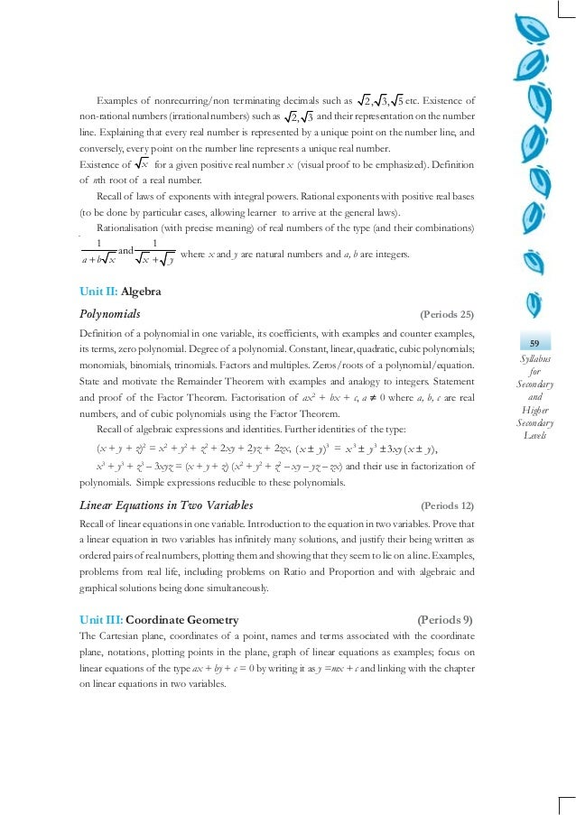 05 mathmetics (class ix xii) Slide 3