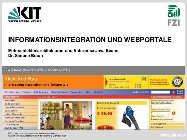 KIT – Universität des Landes Baden-Württemberg und  nationales Forschungszentrum in der Helmholtz-Gemeinschaft  INFORMATIO...