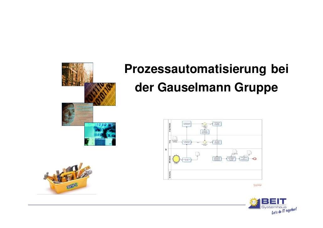 Prozessautomatisierung bei der Gauselmann Gruppe