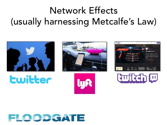 Network Effects (usually harnessing Metcalfe's Law)