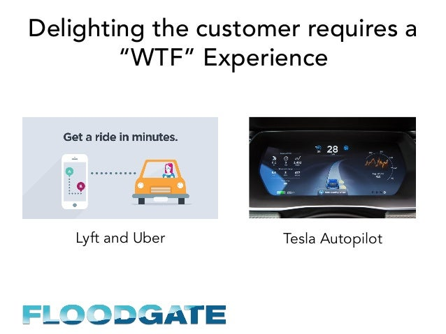 """Delighting the customer requires a """"WTF"""" Experience Lyft and Uber Tesla Autopilot"""