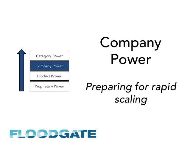Company Power Preparing for rapid scaling Proprietary Power Product Power Company Power Category Power