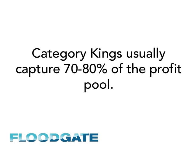 Category Kings usually capture 70-80% of the profit pool.