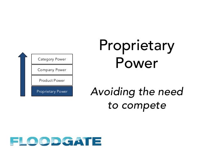Proprietary Power Avoiding the need to compete Proprietary Power Product Power Company Power Category Power
