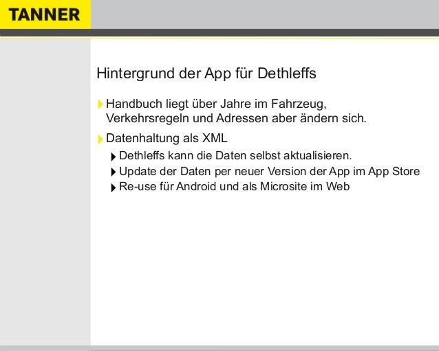 Hintergrund der App für Dethleffs‣Handbuch liegt über Jahre im Fahrzeug,Verkehrsregeln und Adressen aber ändern sich.‣Date...