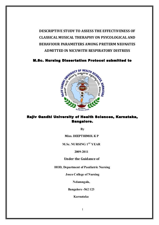 DESCRIPTIVE STUDY TO ASSESS THE EFFECTIVENESS OF CLASSICAL MUSICAL THERAPHY ON PSYCOLOGICAL AND BEHAVIOUR PARAMETERS AMONG...