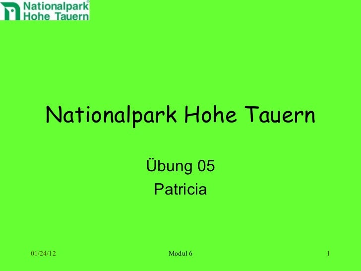 Nationalpark Hohe Tauern Übung 05 Patricia