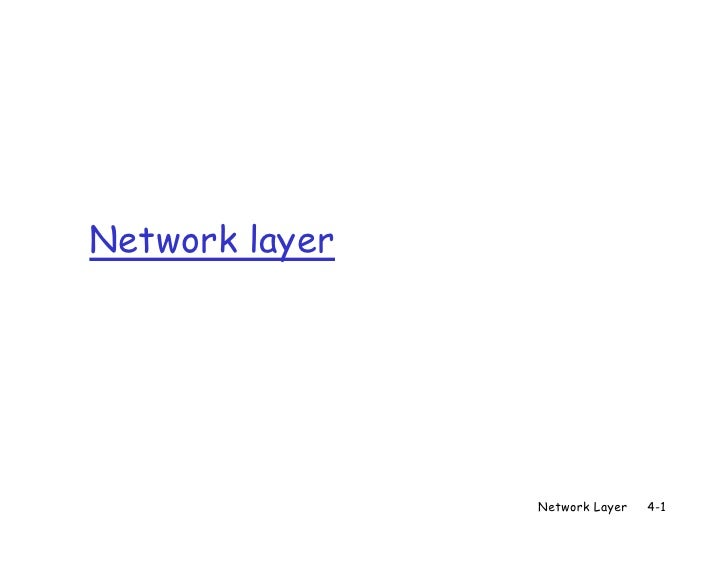 Network layer                Network Layer   4-1