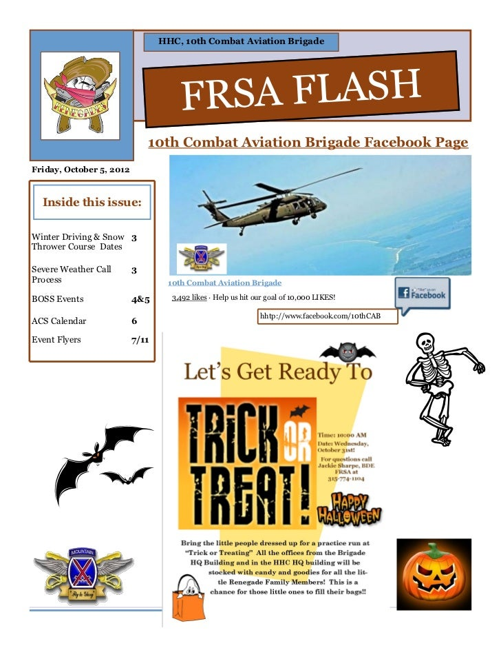 HHC, 10th Combat Aviation Brigade                                     FRSA FLASH                              10th Combat ...