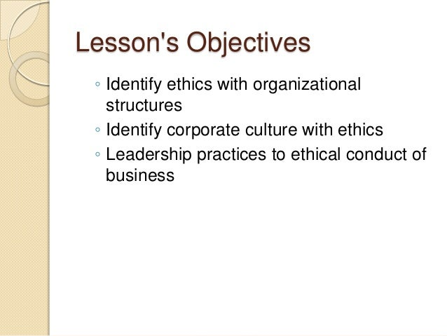 ethics organization Organizational ethics involves the institutionalized principles, guidelines, and  norms that influence how a company and its employees function in an ethical.