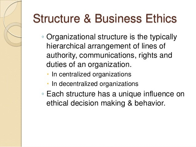business organizational ethics essay Course description: this course is designed to develop an understanding of the theory and practical application of ethical issues facing business and.