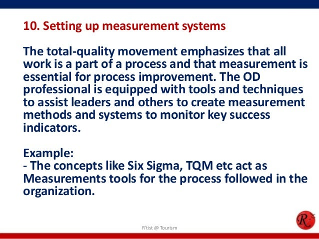 10. Setting up measurement systemsThe total-quality movement emphasizes that allwork is a part of a process and that measu...