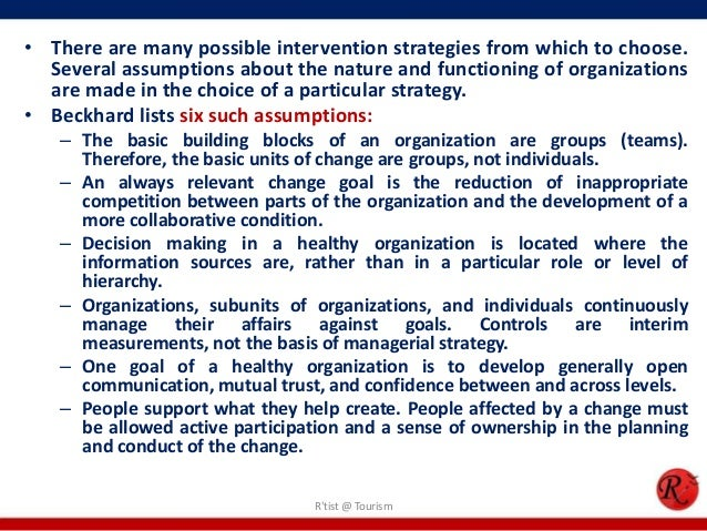 • There are many possible intervention strategies from which to choose.  Several assumptions about the nature and function...