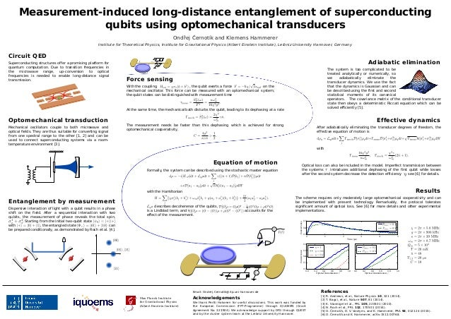 Measurement-induced long-distance entanglement of superconducting qubits using optomechanical transducers Ondřej Černotík ...