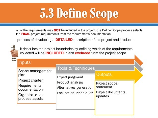 project scope and charter Project statement of work vs project charter for pmp exam by edward chung, pmp the project scope statement is more detailed than the project statement of work.