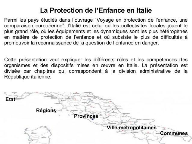 """La Protection de l'Enfance en Italie Parmi les pays étudiés dans l'ouvrage """"Voyage en protection de l'enfance, une compara..."""