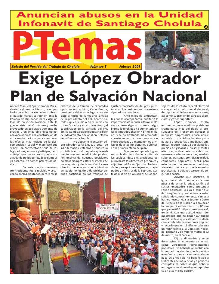 Anuncian abusos en la Unidad      Infonavit de Santiago Cholula 4    Boletín del Partido del Trabajo de Cholula           ...
