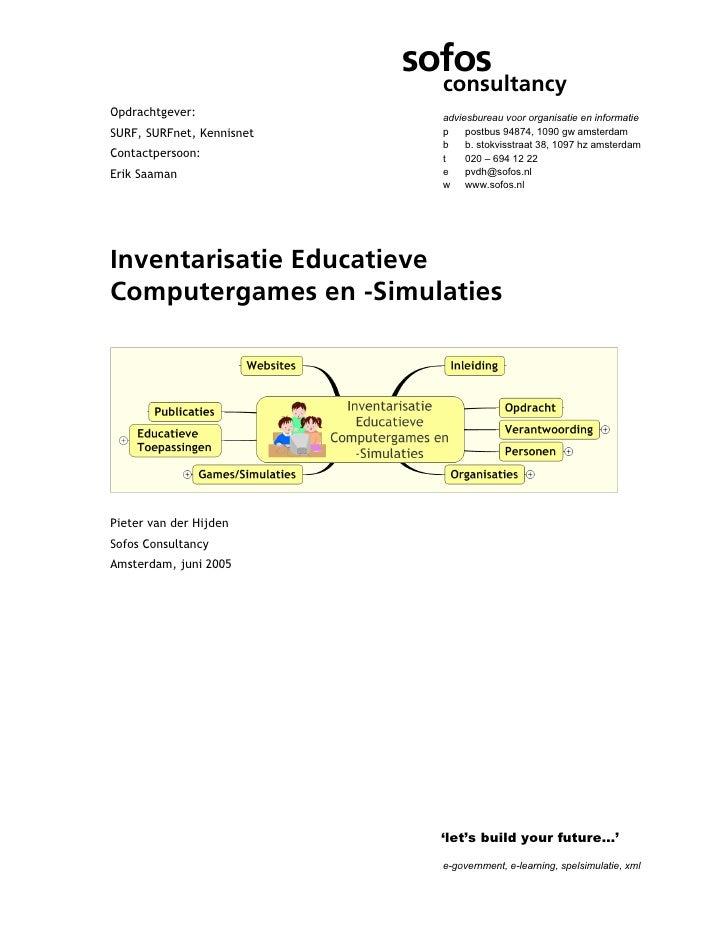 sofos                             consultancyOpdrachtgever:               adviesbureau voor organisatie en informatieSURF,...