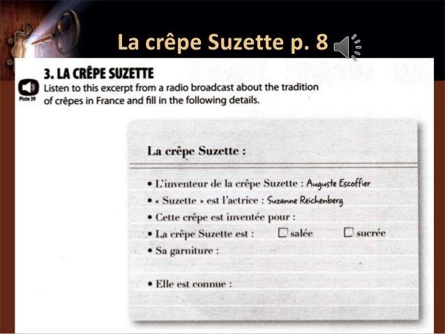 La crêpe Suzette p. 8