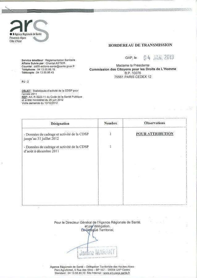 05 rapport activité cdsp 2011