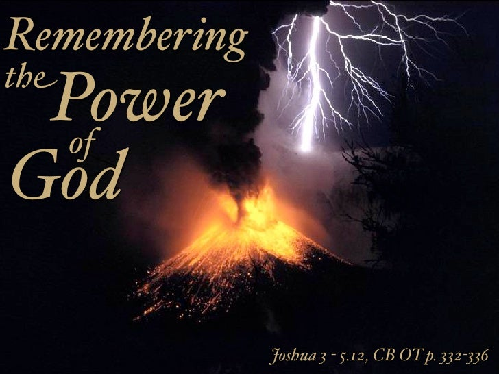 the power of god David continues the theme of creation's proclamation of god's character in psalm 33 where the power of god is highlighted verse 6 states the.