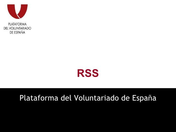 RSS Plataforma del Voluntariado de España