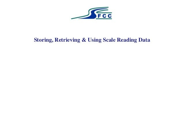Storing, Retrieving & Using Scale Reading Data