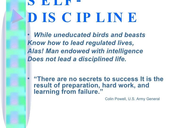 Essay on self discipline