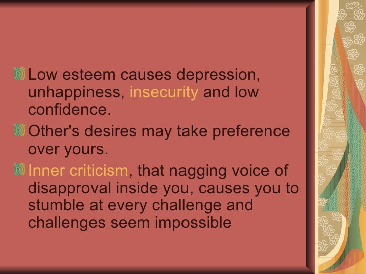 Factors that develop High and Low Self Esteem <ul><li>High Self Esteem </li></ul><ul><li>If you are being praised </li></u...