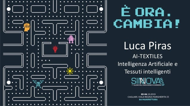 Luca Piras AI-TEXTILES Intelligenza Artificiale e Tessuti intelligenti