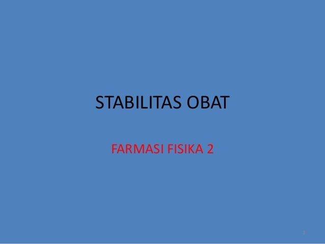 STABILITAS OBAT ADALAH EPUB