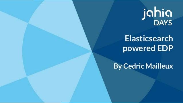 © 2002-2018 Jahia© 2002-2018 Jahia Elasticsearch powered EDP By Cedric Mailleux