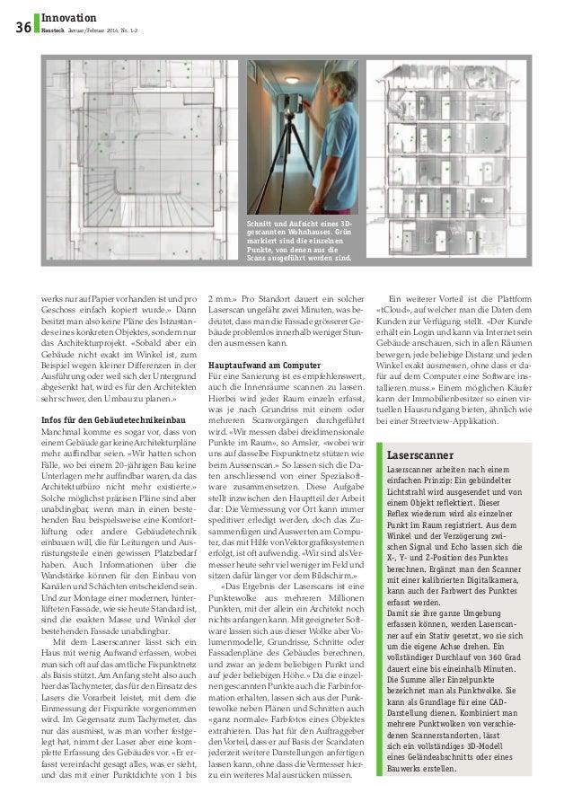 Gebäudererfassung: exakte Pläne aus der Punktwolke haustech Slide 3