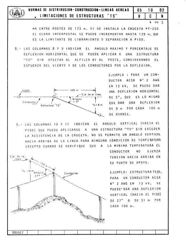 Normas de Distribución - Construcción - Lineas Aéreas Estructura T