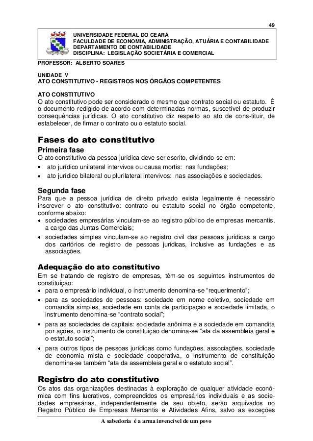 49 UNIVERSIDADE FEDERAL DO CEARÁ FACULDADE DE ECONOMIA, ADMINISTRAÇÃO, ATUÁRIA E CONTABILIDADE DEPARTAMENTO DE CONTABILIDA...