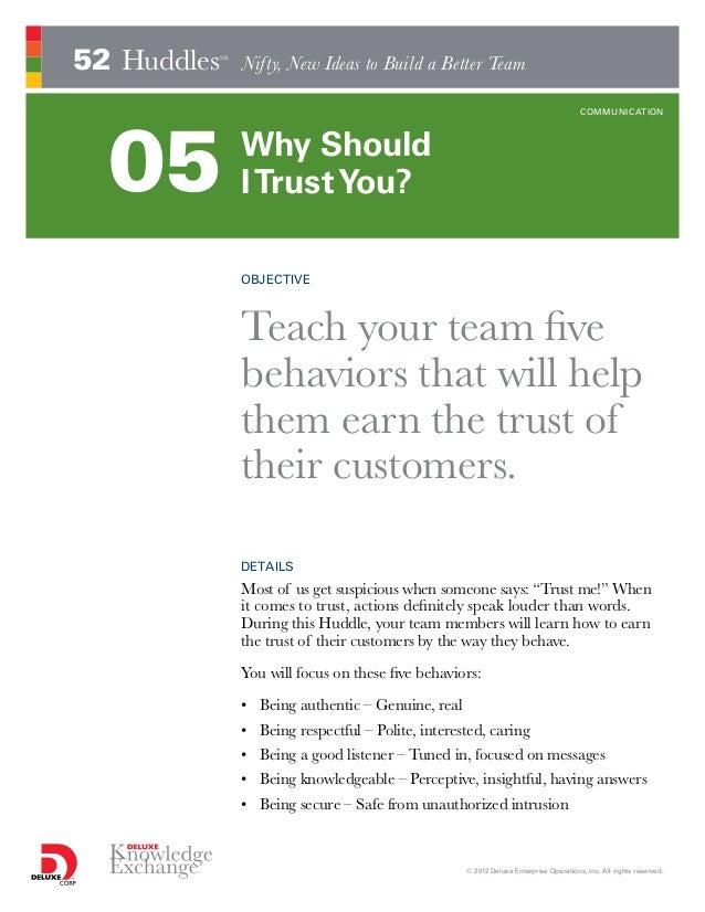 Why Should I Trust You? (Whitepaper)